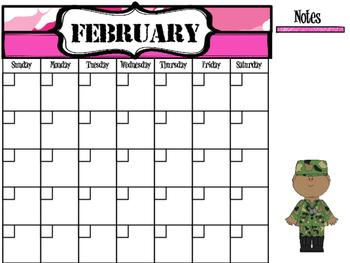 FREE Military Themed Calendar