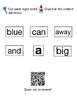 FREE Mini Book, Pre K Dolch Words