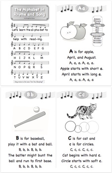 FREE Mini Book: The Alphabet in Rhyme and Song