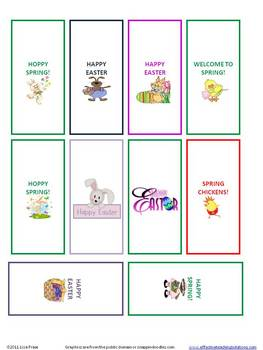 FREE Miniature Chocolate Candy Bar Wrappers for April /Spring /Easter