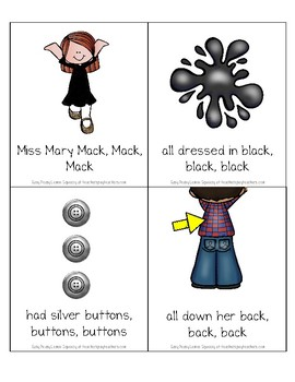 FREE Miss Mary Mack Song Cards