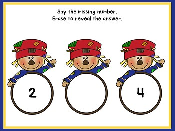 FREE Missing Number Erase & Reveal For Smart Board (Scarecrow Theme)