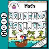 FREE Columbus Day Fun: Missing Number Worksheet/Color by Number Worksheet