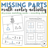  1st Grade  Missing Parts Math Center: Part-Part-Whole & Equation Matching Cards