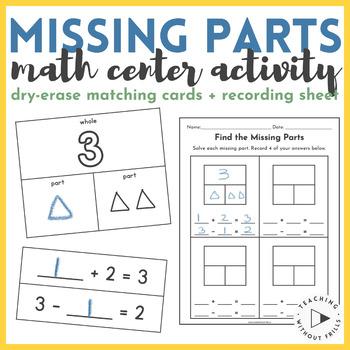 {1st Grade} Missing Part Math Center: Part-Part-Whole & Eq