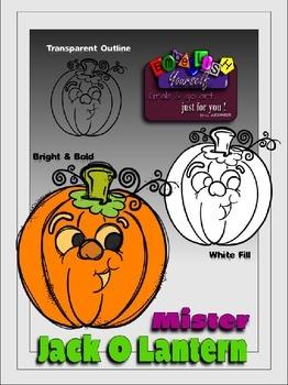 FREEBIE Mister Jack-O-Lantern Clipart (Embellish Yourself Artworks)
