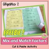 Mix and Match Factors Freebie