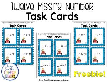 Mixed Division Task Cards Perfect for Scoot Freebie