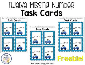 FREE Mixed Multiplication Task Cards Perfect for Scoot