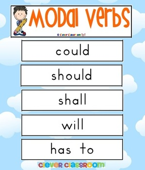 Modal Verbs Word Wall - 5 pages
