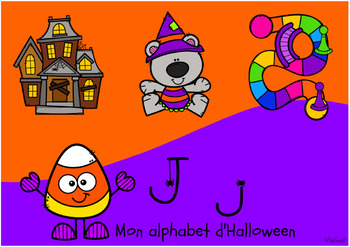 FREE Mon Alphabet d'Halloween • Digital Task Cards in FRENCH