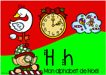 FREE FRENCH BOOM CARDS • Mon Alphabet de Noël