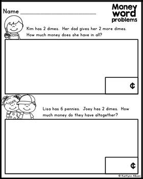 FREE! Money Word Problems - Basic