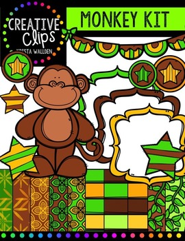 Monkey Creative Kit {Creative Clips Digital Clipart}