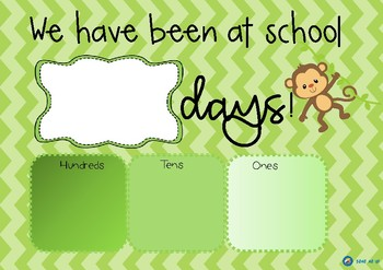 FREE Monkey Themed How Many Days Have We Been at School?