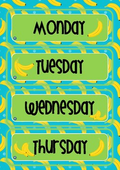 FREE Monkey Themed Yesterday Was, Today Is, Tomorrow Will Be Days of the Week