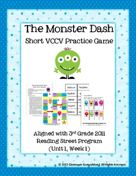 FREE Monster Dash Short VCCV Game (Reading Street 2011)