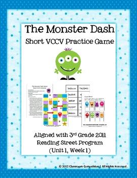 FREE Monster Dash Short VCCV Game (Reading Street 2011)