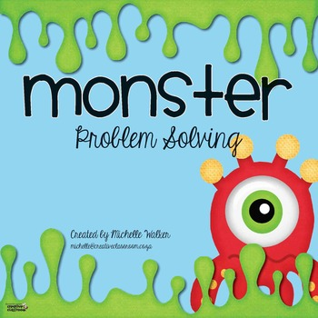 Problem Solving with Monsters FREE Math Center by Michelle Walker