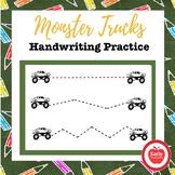 FREE Monster Truck Handwriting Practice