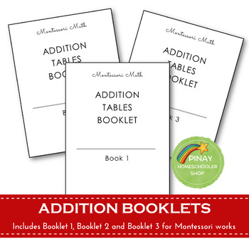 FREE Montessori Addition Tables Booklets