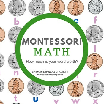 Montessori Elementary Math - How Much is Your Word Worth?