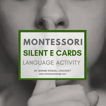 Montessori Language Silent e Cards