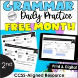 FREE Month-Long Daily Grammar Practice   2nd Grade Grammar