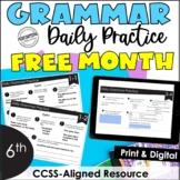FREE Month-Long Daily Grammar Practice | 6th Grade Grammar