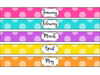 Monthly Binder Spine Labels By Barnett S School House Tpt
