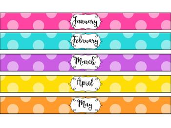 monthly binder spine labels by barnett s school house tpt