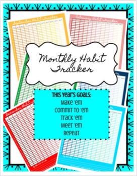 Monthly Habit Tracker FREEBIE (Editable)