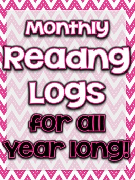 """FREE """"Monthly Reading Logs"""""""