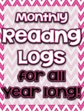 "FREE ""Monthly Reading Logs"""