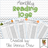 FREE Monthly Reading Logs