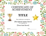FREE - Monthly, Semester, End of the Year Awards (Editable Template) K-8