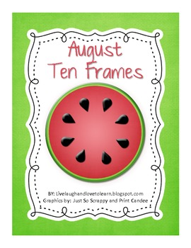 FREE Monthly Ten Frames--August watermelon
