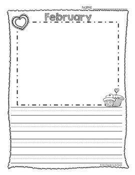 FREE Monthly Writing Papers {Collection 2} ~ February