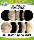 FREE Moon Phases Cycle Real Photos Clipart {Zip-A-Dee-Doo-Dah Designs}