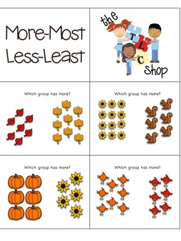 FREE! More-Most Less-Least Printable Cards