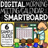 FREE Morning Calendar Lessons for the Smartboard SAMPLE SLIDES