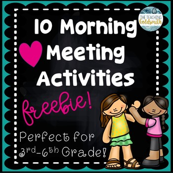 FREE Morning Meeting Activities - Perfect for Grades 3-6