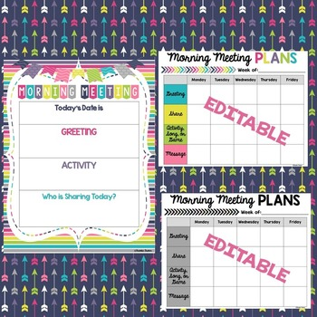 FREE Morning Meeting Planning Poster and Forms