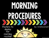 FREE Morning Procedures Posters