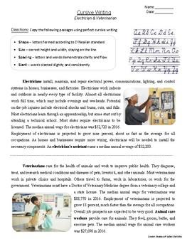 "FREE - Morning Work Bundle | ""Cursive Worksheet"" (Gr. 3-7)"