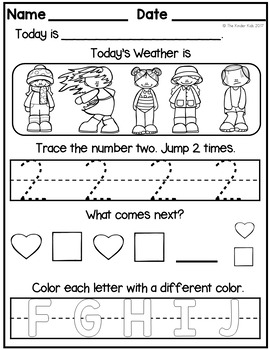FREE Morning Work: Preschool to Kindergarten - Set One