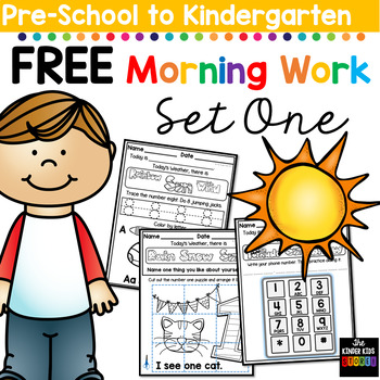 FREE Morning BOOSTER Work: Preschool to Kindergarten - Set One