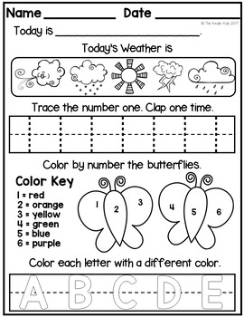 Free Printable Kindergarten Morning Work