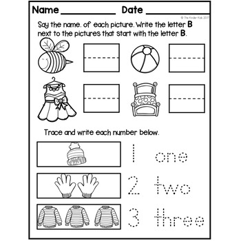 FREE Morning Work: Preschool to Kindergarten - Set Three