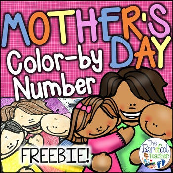 FREE Mother's Day Color-by-Number